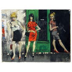 1stdibs - Parisian Girls - Series of Three Oils by Guido Ferro explore items from 1,700  global dealers at 1stdibs.com
