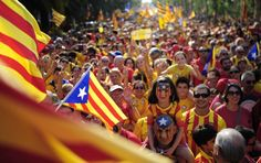 """Ahead of Scotland's referendum, Catalonia thinks its own time has come - washingtonpost.com, Ishaan Tharoor, September 12. """"Ahead of Scotland's referendum, FC Barcelona, one of the world's most popular soccer clubs and an institution of Catalan nationalism in its own right, will wear Catalonia's nationalist yellow-and-red bars rather than its traditional """"blaugrana"""" uniform for the first time in its home stadium. The team is hosting Athletic Bilbao, the most popular club from the Basque…"""