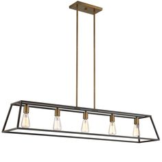 Small Sleek Minimalist Island Chandelier SKU: CH14142 BZ $560.00/Shades of Light