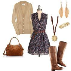 Outfit vestido y botas.