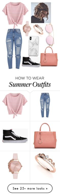 """Summer day outfit"" by rodriguezy73871 on Polyvore featuring Vans, Fendi, Recover and Olivia Burton"