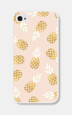 pink and gold pineapple iphone case