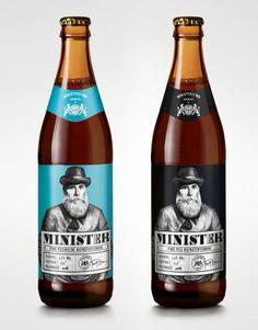 Minister beer labels