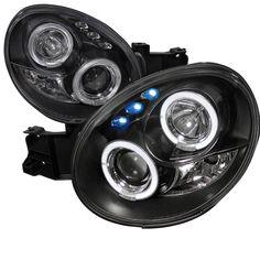 02-03 Subaru Impreza WRX / STI Dual Halo LED Projector Headlights - Black