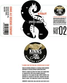 beer label design with accompanying copy