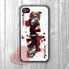 Harley Quinn Joker Card - Fzia for iPhone 6S case, iPhone 5s case, iPhone 6 case, iPhone 4S, Samsung S6 Edge