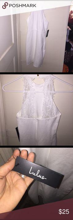 XS LuLus White Dress XS LuLus dress- Never worn, bodycon white dress. Lulu's Dresses Mini