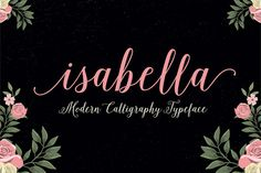 Love this modern calligraphy font. So many cute swashes and variations you can add to the lovely handwritten font letterforms.
