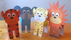 free printables,animals,cardboard tube,cats - Printables for Easy Animal Crafts - Image 3 Easy Animals, Jungle Animals, Animals For Kids, Cheetah Crafts, Tiger Crafts, Toilet Roll Craft, Toilet Paper Roll Crafts, Animal Crafts For Kids, Paper Crafts For Kids