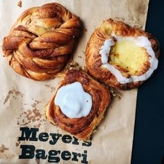 pastries from Meyers Bageri, Copenhagen
