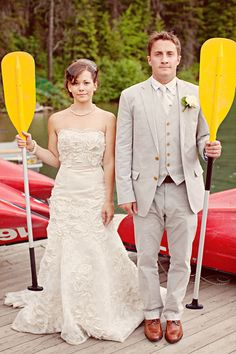 Jenna: For the start of our journey together, rowing out onto the lake after the ceremony?