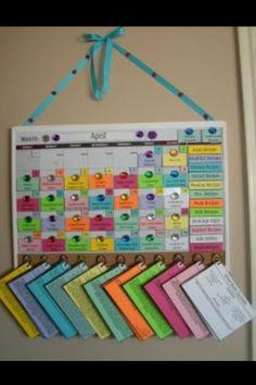 Organized schedule