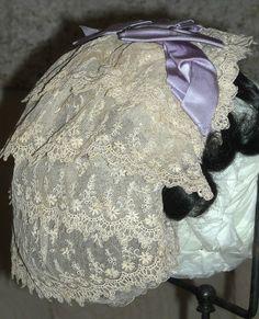 50s-60s lace indoor bonnet