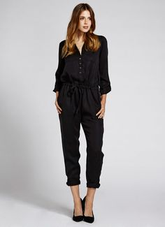 Black Tencel Jumpsuit | Sale Dresses | MintVelvet