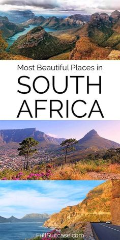 17 Amazing Places to Visit in South Africa (Best Of!) Best places to see and things to do in South Africa South Africa Map, Visit South Africa, South Afrika, South Africa Safari, Cape Town South Africa, Africa Destinations, Travel Destinations, Best Places To Travel, Cool Places To Visit