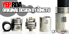 Yep RDA Atomizer By Kingtu $26.99 | GOTSMOK.COM Rda Atomizer, Electronic Cigarette, Vaping, Vaping Mods, Electronic Cigarettes, Vape, Smoking