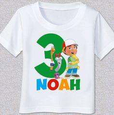 Handy Manny birthday Tshirt Shirt by swingNmonkeez on Etsy