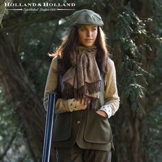 Holland & Holland Ladies Loden Shooting Vest