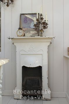 Cast iron fire place.                                                                                                                                                                                 More