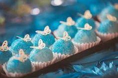 Resultado de imagem para decoração cinderela azul e branco