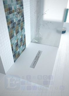 bello y moderno plato de ducha extraplano y desde uac