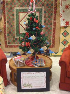 Our quilting/sewing themed tree.
