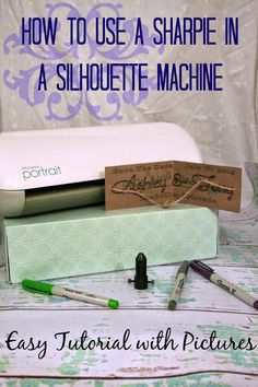 How to Use a Sharpie in a Silhouette Machine