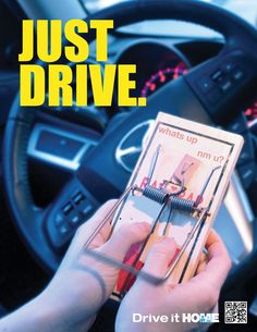 LIKE/SHARE if you don't text and drive! If you text and drive, you're 23 times more likely to have a car crash. Drivers need to be aware of the dangers and keep their attention on the road, not on their cell phones or other mobile devices.