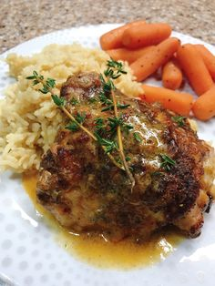 Try this easy and elegant recipe for tender dark-meat chicken thighs and drumsticks baked in a creamy, lemony white sauce. Lemon Chicken Thighs, Greek Lemon Chicken, Chicken Legs, Chicken Breasts, Lemon Recipes Dinner, Instant Pot, Crockpot, Creamy Chicken And Rice, Chicken Thigh Recipes