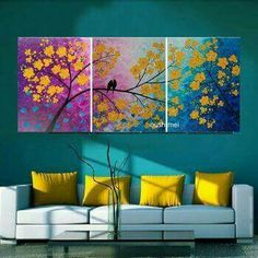 Love the range of color Diy Wall Art, Canvas Wall Art, Wall Decor, Living Room Colors, Living Room Decor, Home Room Design, Room Paint, Home Decor Furniture, Painting Inspiration