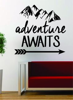Wall Vinyl Art adventure awaits teepee home quotes wall vinyl decals stickers art