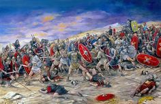 0071 Spartacus and the Slave Revolt, 71 BC - art by Brian Palmer