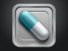 Capsule Icon designed by Celia Sun. App Ui Design, Icon Design, Mobile Icon, Pictogram, Cute Icons, Kustom, App Icon, Pharmacy, Infographics