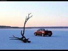 Peugeot 307 CC & the snowful landscape #snow #landscape  #misterauto #piecesauto #307CC