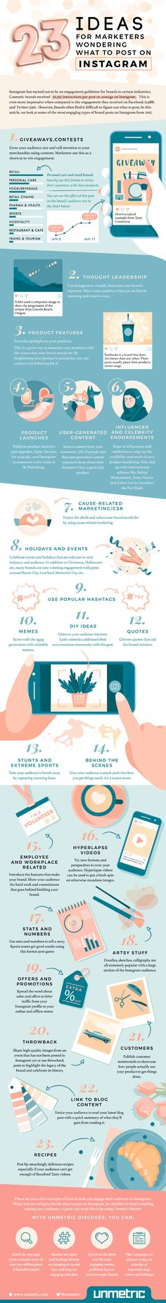 23 Ideas for Marketing Posts on Instagram   Infographic