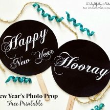 DIY New Year's Photo Prop Free Printables