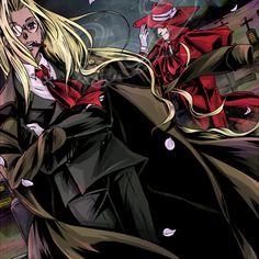 Integra and Alucard Before a storm Manga Girl, Manga Anime, Anime Art, Sir Integra, Drawing Block, Hellsing Alucard, Video Game Anime, Cartoon Painting, Horror Art