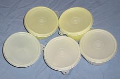 Vintage Tupperware bowls with lids. 215148 by SquareNailSalvage