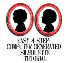 Everyday Mom Ideas: Simple 4-step Photo Editing Silhouette Tutorial - Grandparents Day gift.