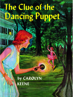 43. The Clue of the Dancing Puppet  Nancy is called to the home of an acting group to investigate a creepy sighting: A life-sized puppet dances across the lawn without a puppeteer in sight.    Read more: Original Nancy Drew Books in Order - Summary of Nancy Drew Mysteries - Country Living