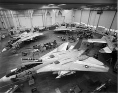 F14's in Carrier Hanger.