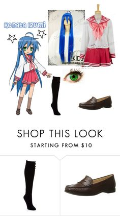 """""""Konata Izumi- Lucky Star"""" by zozo-chan ❤ liked on Polyvore featuring Hue and Jack Rogers"""