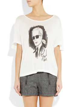 Karl | Jacinda printed jersey T-shirt | NET-A-PORTER.COM (And in the sale, even better!)
