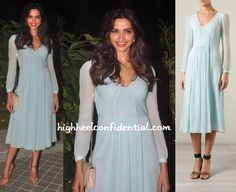 Deepika opted for a simple look (relatively) at the birthday bash wearing a chiffon Burberry dress with a nude Saint Laurent sling bag and nude Louboutins. While I like the dress and make-up, I think the nude accessories felt too plain for the dress. One printed item, either the pumps or clutch, would've elevated the …