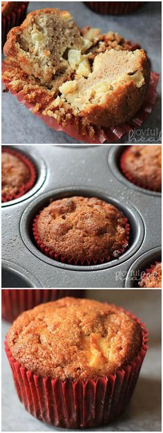 These Paleo Apple Cinnamon Muffins are made with coconut oil and sweetened with pure maple syrup! Sure to be a kid favorite breakfast or snack!!! | joyfulhealthyeats.com