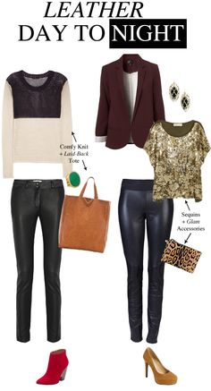 how to wear leather pants for day and night poshandpoised.com