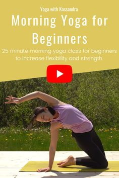 Start your day right with this 25 minute morning yoga class for beginners to improve flexibility and strength. We'll begin our yoga flow with mindful movement and breathing exercises to practice gratitude and joy and then move into our energizing yoga flow, yoga asanas, and yoga poses. Click through to enjoy this morning yoga routine for beginners and all levels. Learn yoga at home   online yoga classes   best yoga online   morning yoga stretches Morning Yoga Stretches, Morning Yoga Flow, Morning Yoga Routine, Yoga Routine For Beginners, Online Yoga Classes, Learn Yoga, Increase Flexibility, Yoga At Home, Practice Gratitude