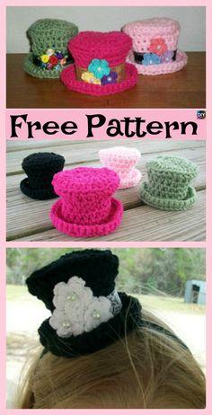 diy4ever 6 Cute Crochet Mini Hat Free Patterns P6 - 6 Cutest Crochet Mini Hat Free Patterns