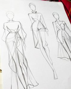 40 trendy fashion illustration sketches back haute couture Girl Illustration Art, Fashion Illustration Dresses, Fashion Illustrations, Fashion Drawing Tutorial, Fashion Figure Drawing, Drawing Fashion, Dress Design Sketches, Fashion Design Drawings, Fashion Model Sketch