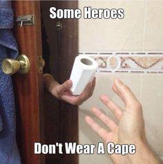 Some heroes hand you toilet paper when you need it! | Jon-E-VAC | (888) 942-3935 | www.jonevac.com